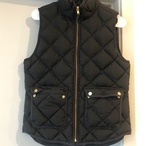 Jcrew Black Puff Vest